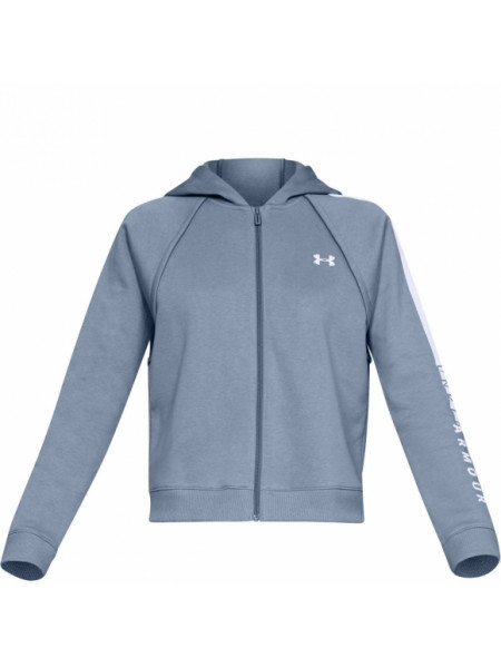 Толстовка Under Armour COTTON FZ HOODIE Washed Blue / Washed Blue