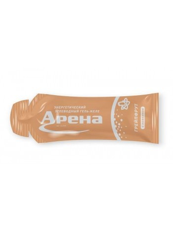 Энергетический гель Арена Первая с кофеином (50 мг), Грейпфрут