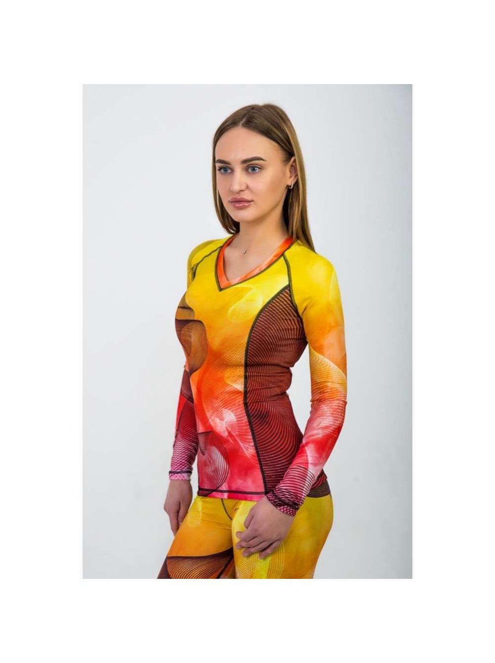 Рашгард женский с длинным рукавом Orso Classic FireFox купить в Москве 023e5c50cd0