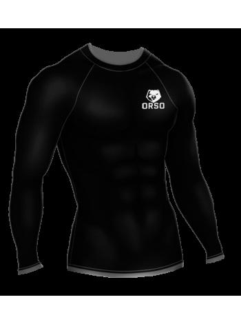 Рашгард мужской Orso Regular с длинным рукавом (черный)